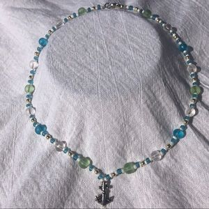 Nautical Anchor Themed Custom Made Necklace 18 in